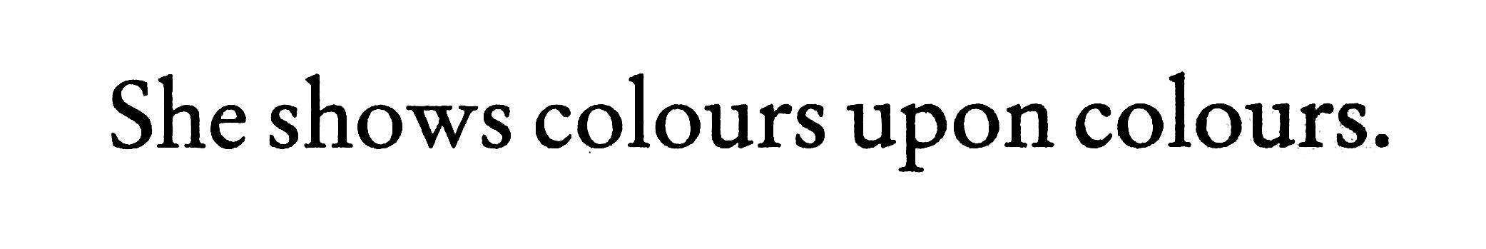 Colour Hole Ousia