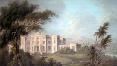 Rossie castle in oil 1830