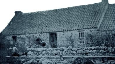 Tynadulock House in 1874, Perthshire, Scotland