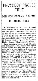 1929 heir to Inchbrakie