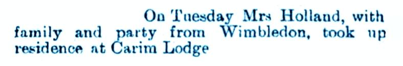 4 Aug 1899 Carim Lodge