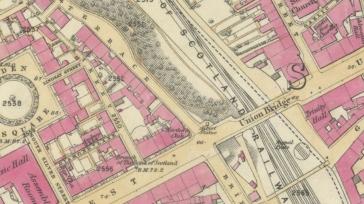 Union Bridge, Aberdeen, 1st OS map