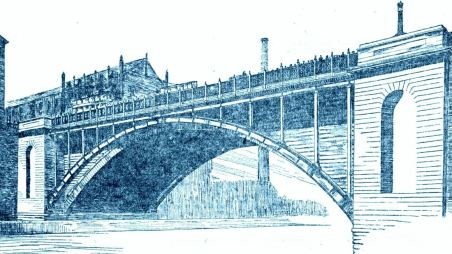 Union Street Bridge, 1908 with proposed Kelly cats