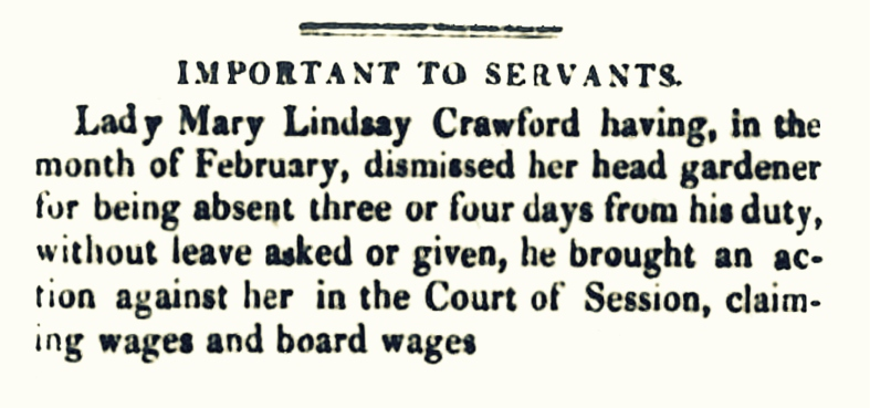 30 March 1822 - Crawford Priory (2)