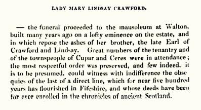 Lady Crawford, Crawford Priory died 12 Dec 1833 (02)