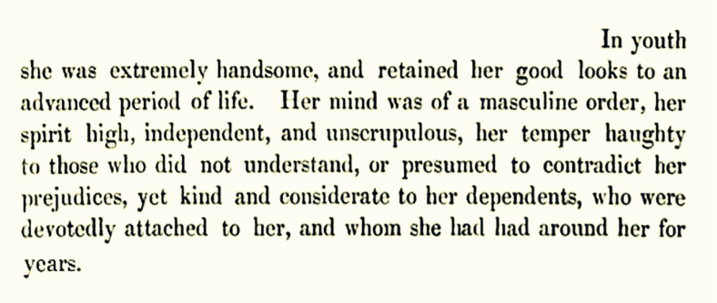 Lady Mary Crawford (as recalled by Lord Lindsay, 1858) 02