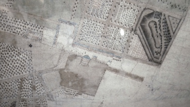 18c map of Dunkeld Hoose and designed landscape